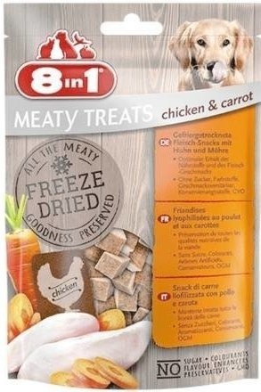 8in1 Dog Freeze Dried Chicken/Carrots 50g