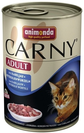 ANIMONDA Cat Carny Adult příchuť: treska a petrželový kořen 400g