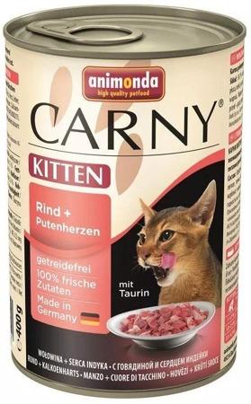 ANIMONDA Cat Carny Kitten chuť: hovězí, krůtí srdce 400g