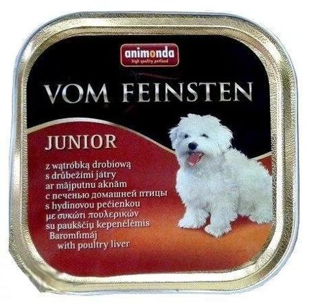 ANIMONDA Dog Vom Feinsten Junior chuť: kuřecí játra 150g