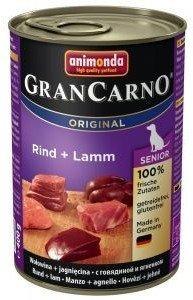 ANIMONDA GranCarno Senior příchuť: Hovězí a jehněčí maso 400g