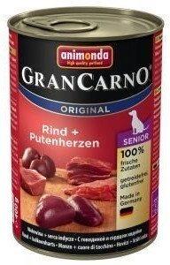 ANIMONDA GranCarno Senior příchuť: hovězí maso + krůtí srdce 800g