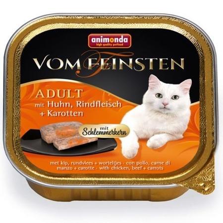 Animonda Cat Vom Feinsten Adult s náplní: kuřecí, hovězí a mrkví 100g