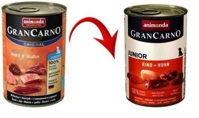 Animonda GranCarno Junior příchuť: hovězí + kuře 400g