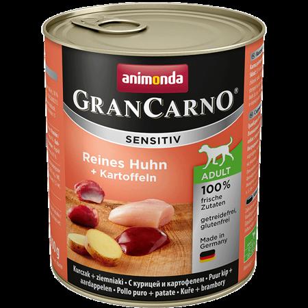 Animonda GranCarno Sensitiv Adult Dog příchuť: kuřecí + brambory 800g