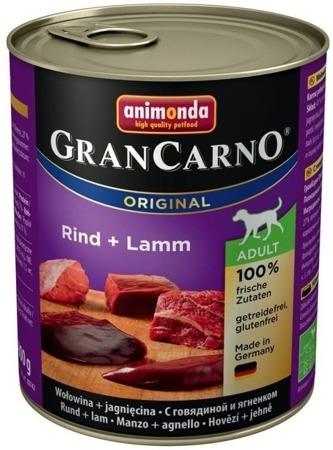 Animonda GranCarno dog konz. - hovězí, jehněčí 800g