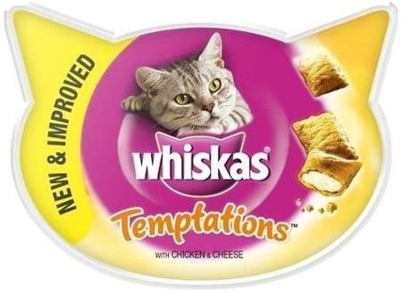 Whiskas Temptations kuřecí & sýr 60 g